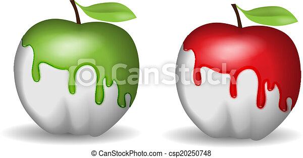 Half-painted apple - csp20250748