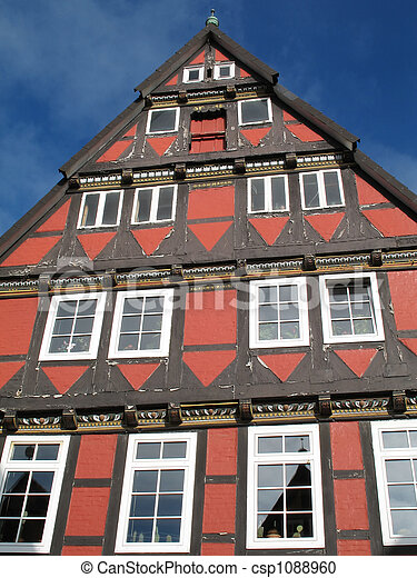 Half-timbered house - csp1088960