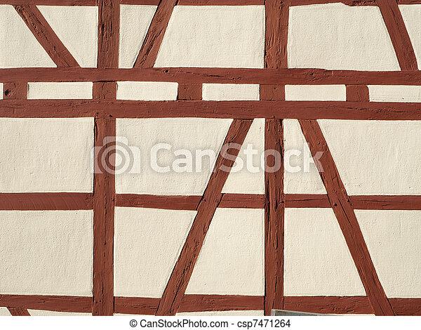 Half timbered work - csp7471264