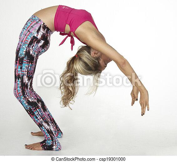urdhva dhanurasana or half wheel yoga pose position