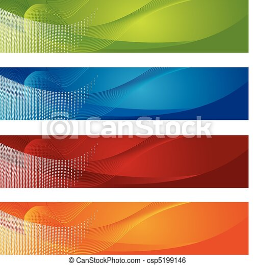 Halftone and gradient banners - csp5199146