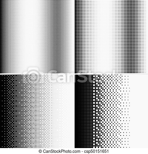 Halftone dots on white background - csp50151651
