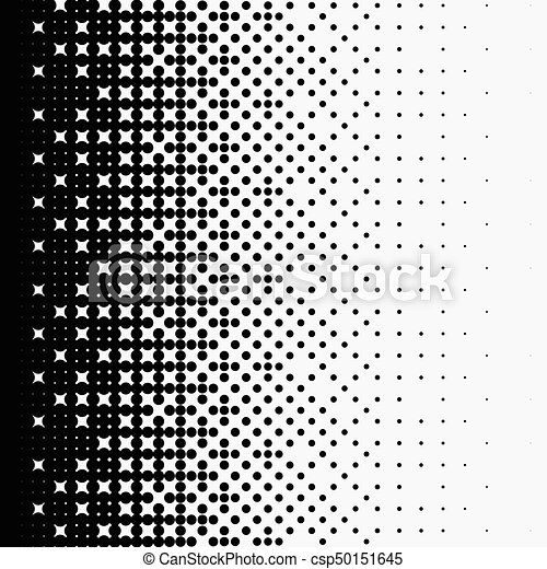 Halftone dots on white background - csp50151645