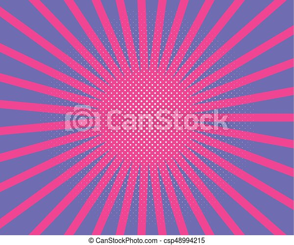 Pop Art Style Pattern With Circles Dots Radiating From The Center
