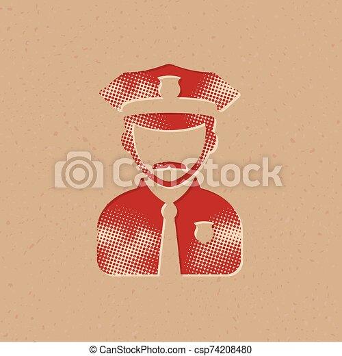 Halftone Icon - Police avatar - csp74208480