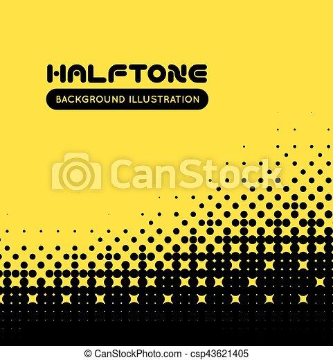 Halftone vector background - csp43621405