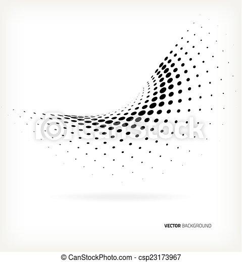 Vector medio punto. - csp23173967