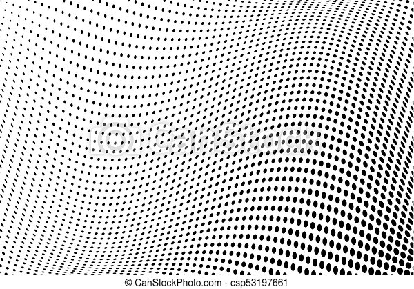 Halftone Wavy Pattern Comic Background Dotted Retro Backdrop With Fascinating Wavy Pattern