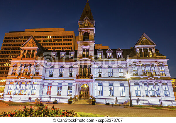 Halifax City Hall at evening - csp52373707