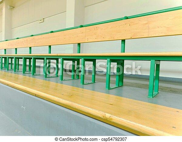 Coloriage Gymnase Ecole.Hall Ecole Rangees Bancs Bois Sport Ventilateurs Tribune