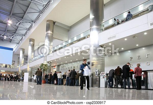 Hall in exhibition center - csp2330917