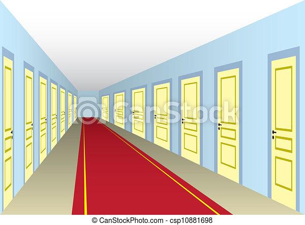 Hall with doors - csp10881698