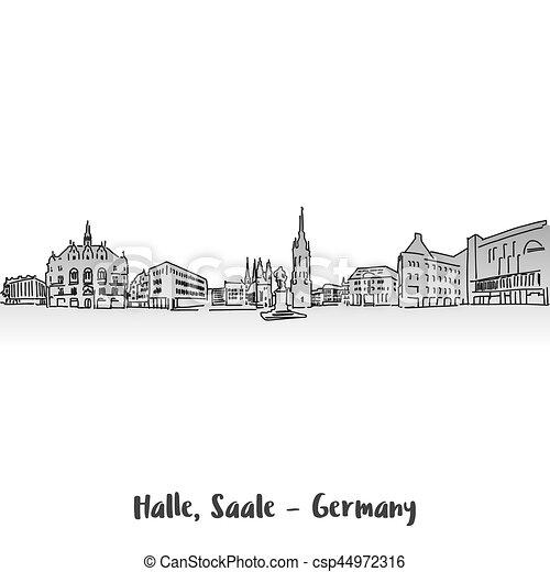 Halle Saale Karte.Halle Saale Sqare Design Markt Karte