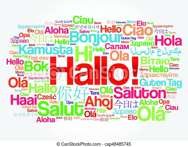 Hallo hello greeting in german word cloud in different eps hallo hello greeting in german word cloud csp48485745 m4hsunfo