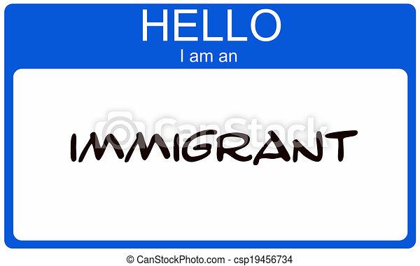 hallo, immigrant - csp19456734