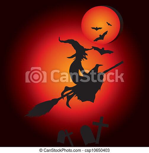 hallooween witch  - csp10650403