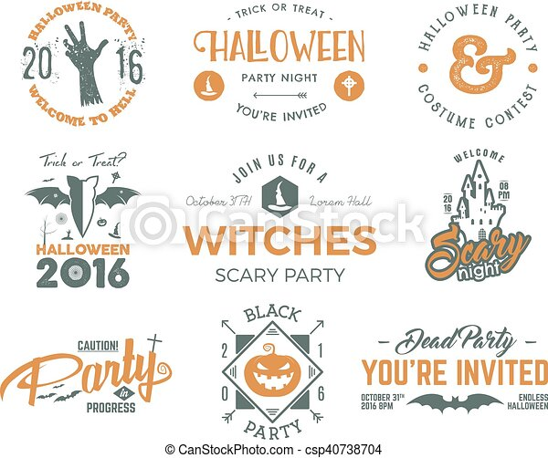 halloween 2016 party labels templates with scary symbols zombie