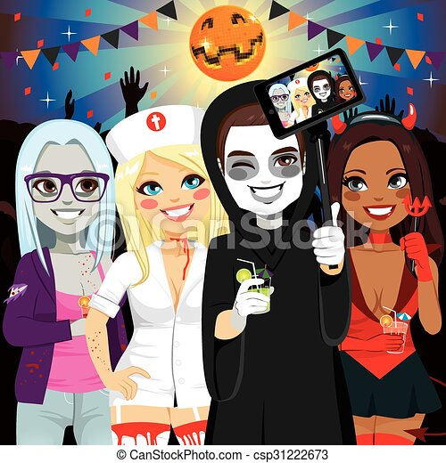 Halloween Adult Party Selfie - csp31222673