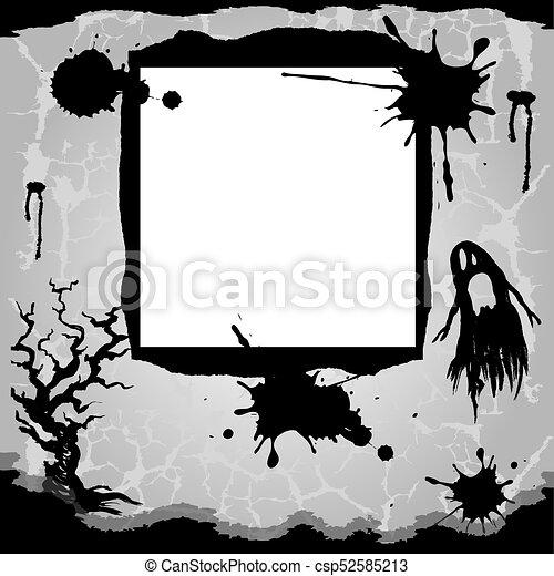 halloween, arrière-plan. - csp52585213