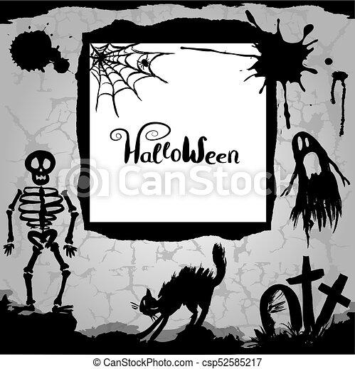 halloween, arrière-plan. - csp52585217
