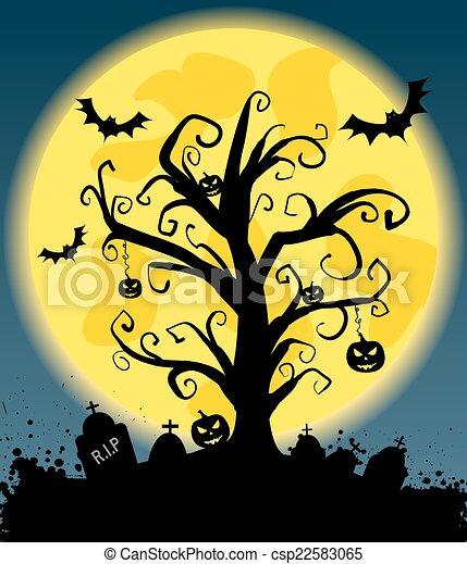 Halloween background - csp22583065