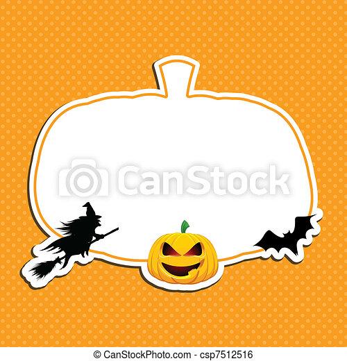 Halloween background - csp7512516