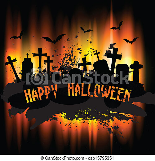 Halloween background - csp15795351