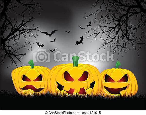 Halloween background - csp4121015