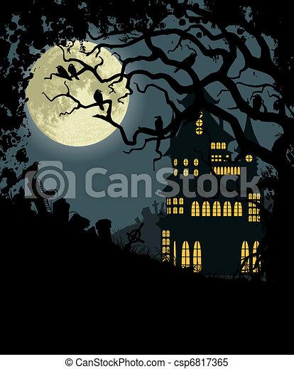 Halloween background - csp6817365