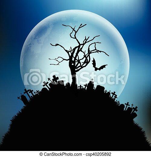 Halloween background - csp40205892