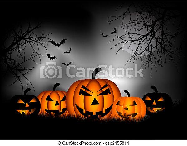 Halloween background - csp2455814