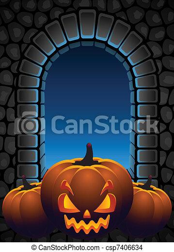 Halloween background - csp7406634