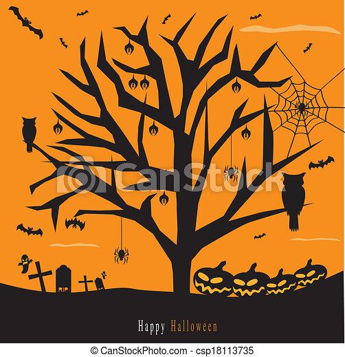 Halloween background - csp18113735
