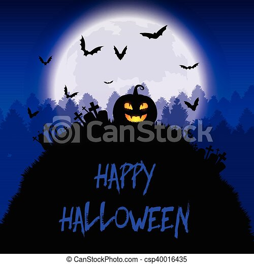 Halloween background - csp40016435