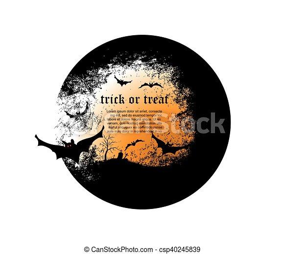 Halloween background - csp40245839