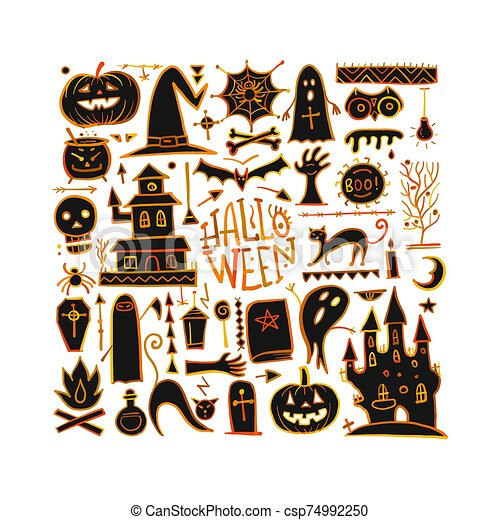 Halloween background for your design - csp74992250