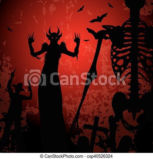 Halloween background - csp40526324