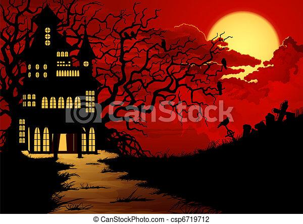 Halloween background - csp6719712