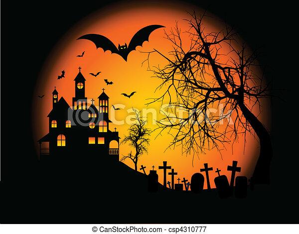 halloween background  - csp4310777