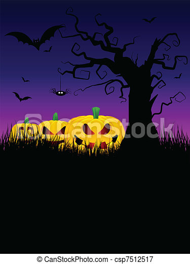 Halloween background - csp7512517