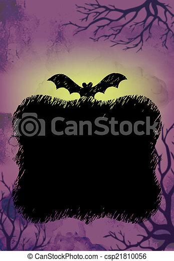Halloween Background Purple - csp21810056