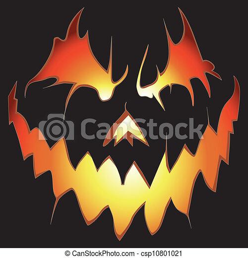 Creepy Halloween Pumpkin Drawings.Halloween Background Scary Pumpkin