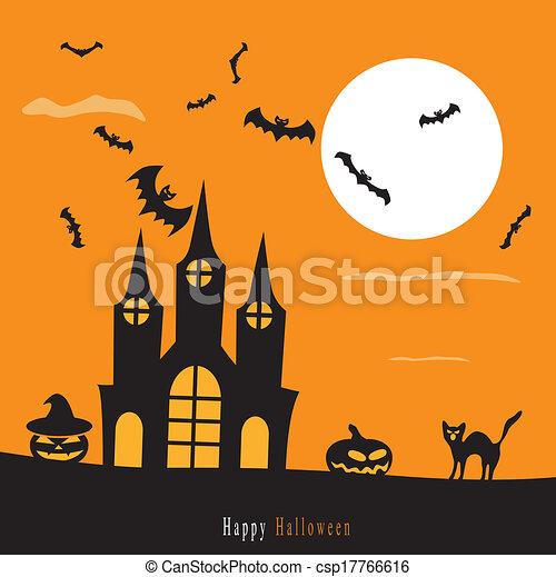 Halloween background - csp17766616