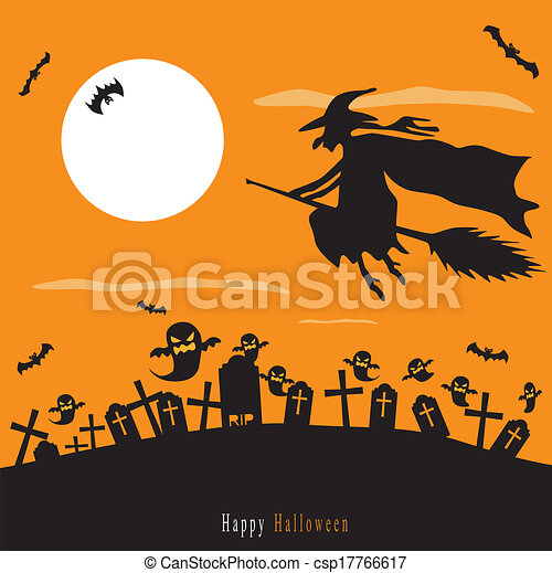 Halloween background - csp17766617