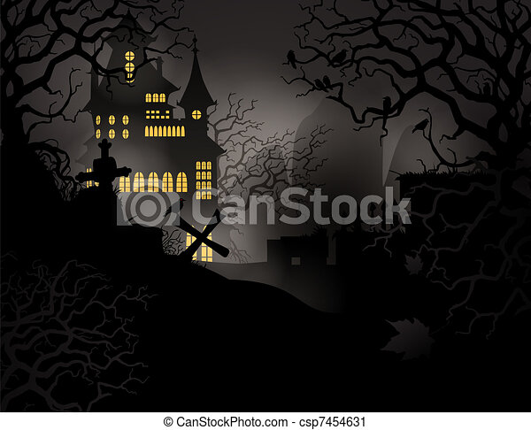 Halloween background - csp7454631