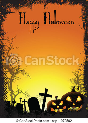 Halloween background - csp11072502
