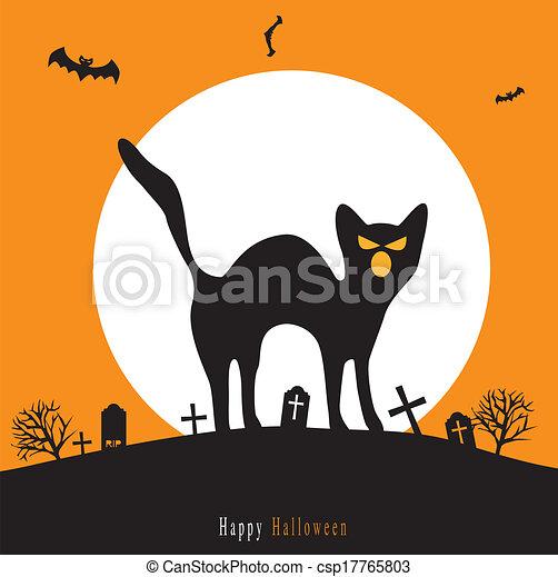 Halloween background - csp17765803