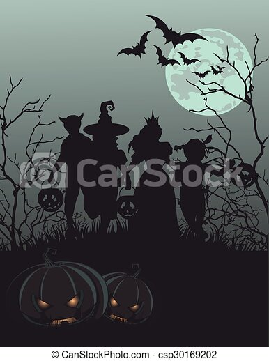 Halloween Background  - csp30169202