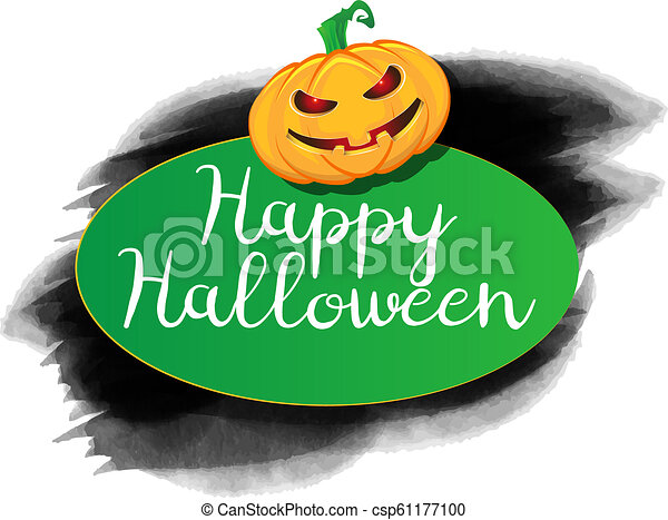 Halloween background with a grunge - csp61177100
