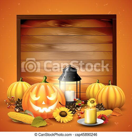 Halloween background with place for text - csp45890246